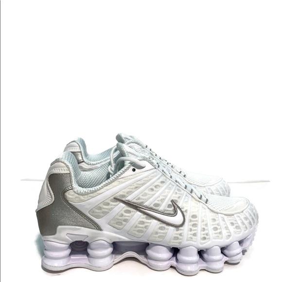 Women's Nike Shox TL Triple White Silver NWT